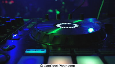 dj, club, mélangeur, disco, nuit, fête
