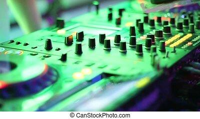 DJ Console in night club close-up HD