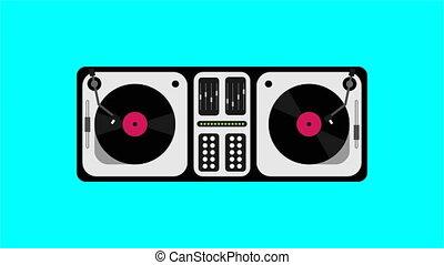 DJ console in flat design