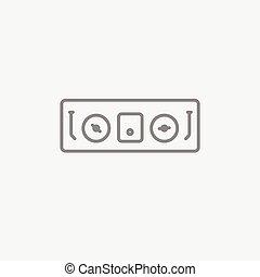 DJ console line icon. - DJ console line icon for web, mobile...