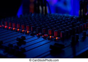 dj, cubierta, volumen, sliders, música, mezclar