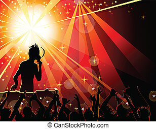 DJ - Dancing young people in the nightclub