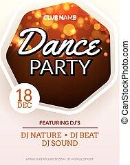 dj, danse, résumé, disco, aviateur, musique, gabarit, nuit, design., fête, club., bannière, célébration
