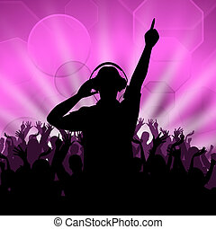 Dj Disco Shows Entertainment Celebration And Dancing -...