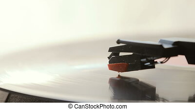 dj, enregistrement, haut, joueur, platine, vinyle, fin