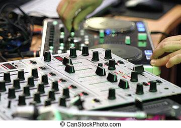 dj, equipamento música