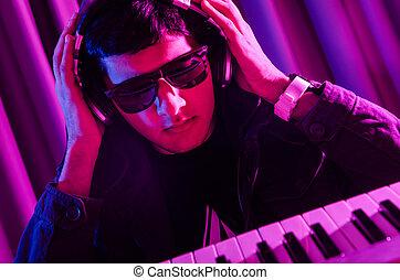 dj, felfordulás zene, -ban, disco