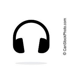 Dj Headphones icon on white background.