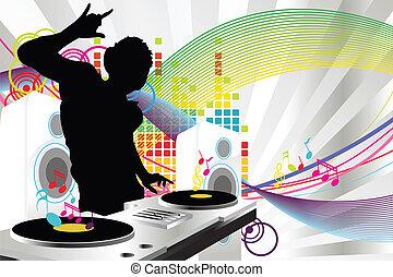 dj, hudba