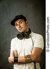 Dj in front of a Rural background