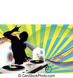 dj, música