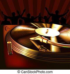 DJ Mix Panel - High detailed illustration.