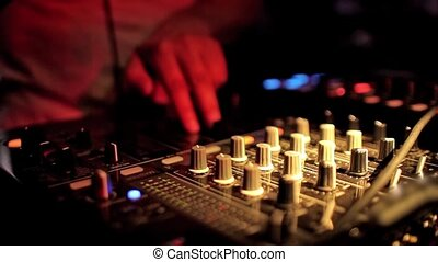 Dj mixing at the night club