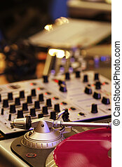 DJ mixing equipment