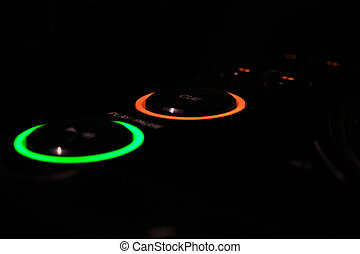 DJ Mixing Play and Cue Buttons