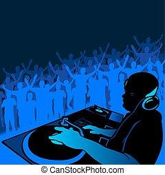 DJ music - Coloured illustration.