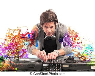 dj, musik, leka