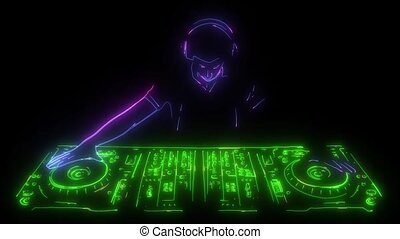 DJ playing the console digital animation - DJ playing the...
