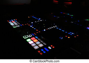 DJ remote in night club
