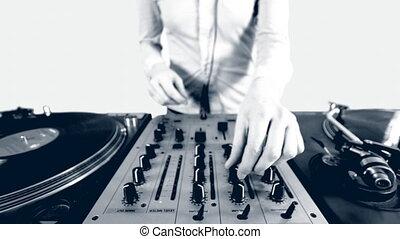 dj, séquence, club, apparenté, thèmes, femme, images, encore
