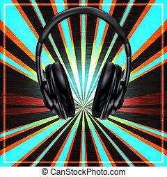 DJ Set Poster - Background illustration in a Club or DJ set...