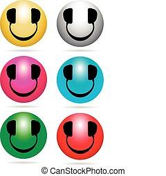 dj, smiley, néon