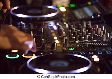 Dj  Sound Mixer Knobs. Music Background
