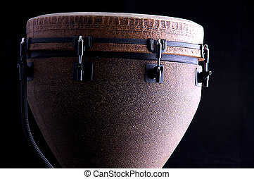 Djembe Drum Isolated on Black