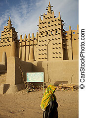 Djenne?: African City of Mud - The big mosque in Djenne? and...