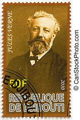 DJIBOUTI - 2010: shows Jules Verne (1828-1905) - DJIBOUTI - ...