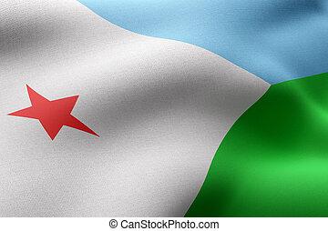 Djibouti 3d flag