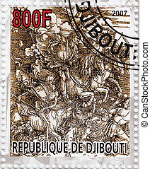 DJIBOUTI - CIRCA 2007: Stamp printed in Djibiouti shows pic...