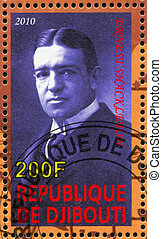 Ernest Shackleton - DJIBOUTI - CIRCA 2010: stamp printed by...