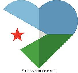 Djibouti flat heart flag