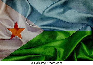 Djibouti grunge waving flag