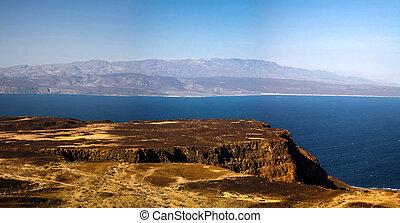 djibouti, tadjoura, lago, golfo, ghoubet