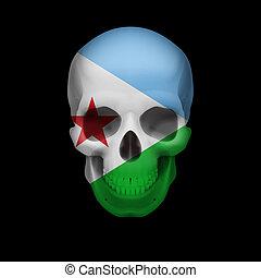 Djiboutian flag skull