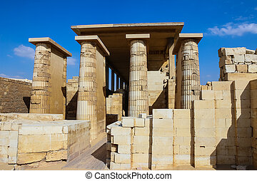 djoser., 古代, ピラミッド, 寺院, egypt.