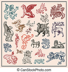 djur, heraldisk, kollektion