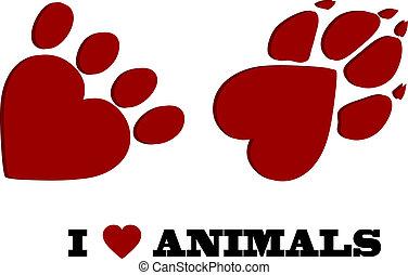djur, kärlek
