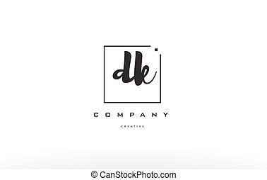dk d k hand writing letter company logo icon design