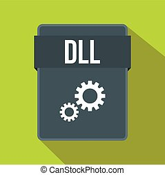 DLL file icon, flat style