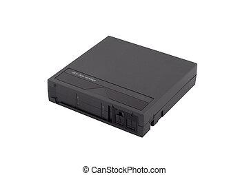 DLT Backup Tape - A DLT or Super DLT backup tape on a white...