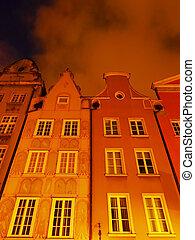 Dlugi Targ Street in Gdansk, Poland