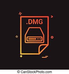 dmg, obklad, zavádění, pořadač, defilovat, formát, ikona,...