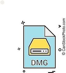 dmg, pořadač, pořadač, prodloužení, pořadač, formát, ikona,...