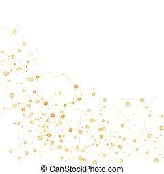 dna , δίκτυο , χρώμα , σύνδεση , μικροβιοφορέας , άτομο