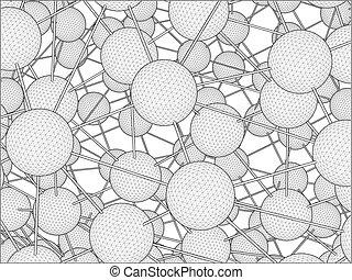 dna, 分子, 構造