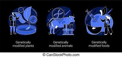 dna, 抽象的, 産業, 工学, illustrations., 概念, ベクトル