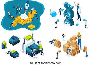 dna., 科學家, 網站, 研究, 結构, 應用, 集合, 機場, 等量, 啟動, 倉庫, 建立, 概念, 工作